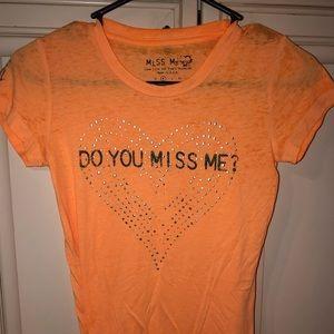 Peach Miss Me T shirt